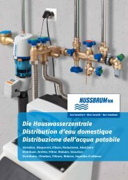 Die Hauswasserzentrale Distribution d'eau ... - R. Nussbaum AG