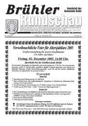 Amtsblatt KW47 2005 - Gemeinde Brühl