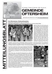 Die Oftersheimer Weihnachtsmärkte - Nussbaum Medien