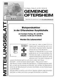 Blutspendeaktion in der Oftersheimer Kurpfalzhalle - Nussbaum ...