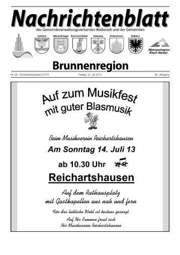 Nachrichtenblatt Brunnenregion KW28 2013 - Nussbaum Medien