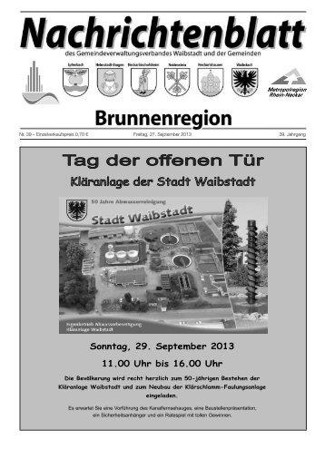 Nachrichtenblatt Brunnenregion KW39 2013 - Nussbaum Medien