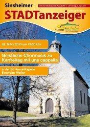 Stadtanzeiger KW13 Donnerstag, 28.03.13 - Nussbaum Medien