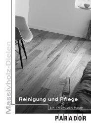 . Reinigung und Pflege - Nutzholz May