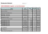 Restpostenliste Stand 25.05.2010 - Nutzholz May