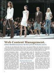 Web Content Management. Online-Redaktionssysteme für Ihre