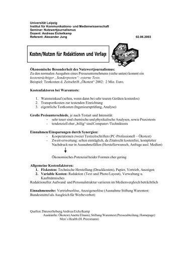 Thesenpapier Referat 11 Pdf 74 Kb Nutzwertjournalismusde