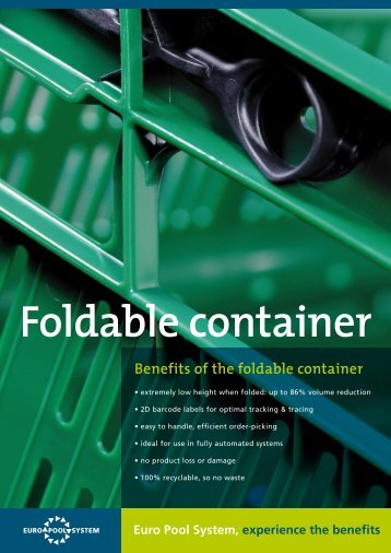 Benefits of the foldable container - Euro Pool System