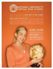 LeArN more - National University Virtual High School
