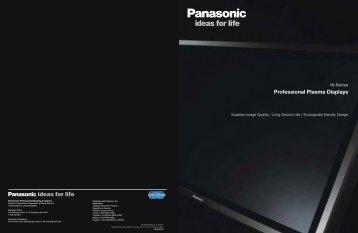 The truly professional plasma displays - Super AV