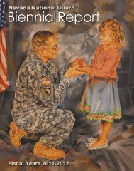 2011-2012 Biennial Report - Nevada National Guard - U.S. Army
