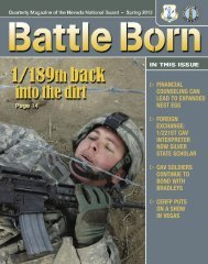 Spring 12 - Nevada National Guard - U.S. Army