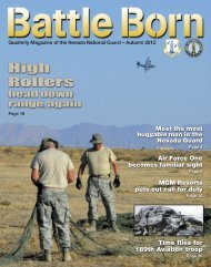 Fall 12 - Nevada National Guard - U.S. Army