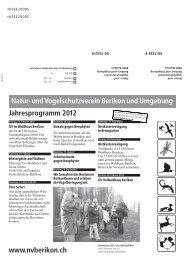 Jahresprogramm 2012 - Natur- und Vogelschutzverein Berikon und ...