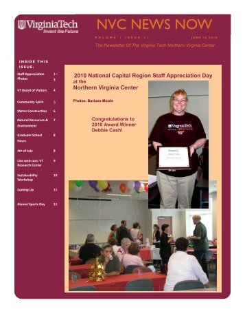 NVC NEWS NOW - Northern Virginia Center - Virginia Tech