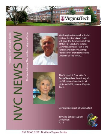 NVC NEWS NOW ∙ Northern Virginia Center Virginia Tech Grad u ...
