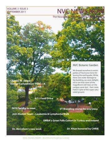 September 1, 2011 - Northern Virginia Center - Virginia Tech