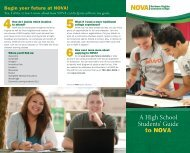 A High School Student's Guide - Northern Virginia Community College