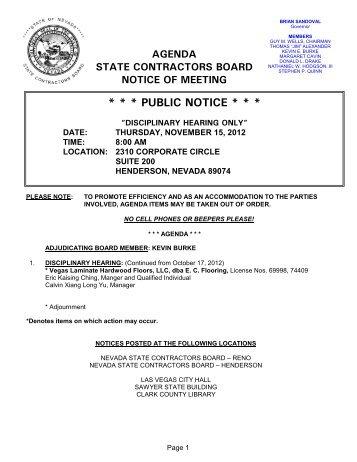 11-15-12 Las Vegas Disc no times.pdf - Nevada State Contractors ...