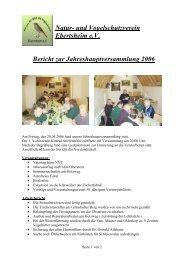 Mitgliederversammlung - Verein für Natur- und Vogelschutz ...