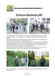 Bericht zur Maiexkursion 2008 - Verein für Natur- und Vogelschutz ...