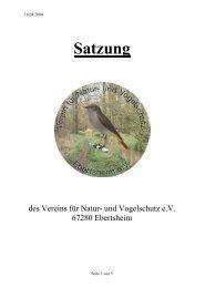 Satzung - Verein für Natur- und Vogelschutz Ebertsheim e.V.