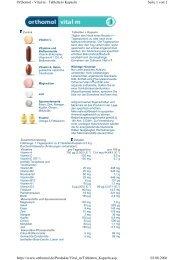 Seite 1 von 2 Orthomol - Vital m - Tabletten+Kapseln ... - DocMorris