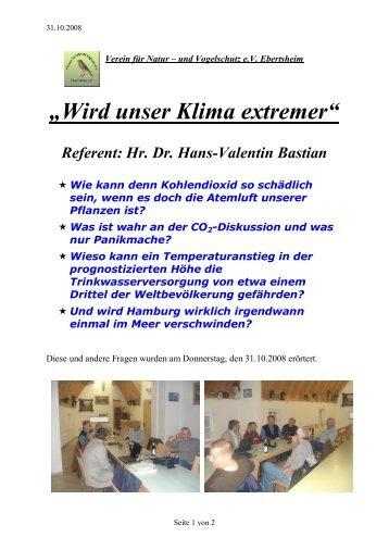 """""""Wird unser Klima extremer"""" - Verein für Natur- und Vogelschutz ..."""