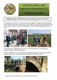 Begehung der Rodenbach - Verein für Natur- und Vogelschutz ...