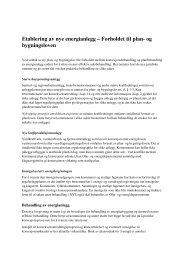 Etablering av nye energianlegg – Forholdet til plan- og ... - NVE