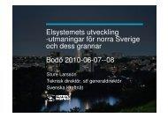 Elsystemets utveckling -utmaningar för norra Sverige och ... - NVE