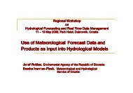 Use of Meteorological Forecast Data and Products as Input ... - NVE
