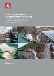 Informasjonsdag om ny damsikkerhetsforskrift Program - NVE