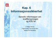 Kap. 6 Informasjonssikkerhet - NVE