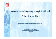 Norges vassdrags- og energidirektorat Policy for kabling - Landsnet