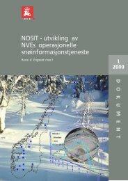 NOSIT - utvikling av NVEs operasjonelle snøinformasjonstjeneste