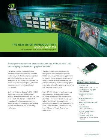 NVIDIA NVS 310 GPU: The New Vision in Productivity