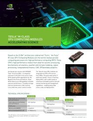 TESLA™ M-CLASS GPU CoMPUTinG ModULES ... - Nvidia