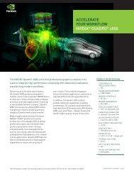 NVIDIA Quadro 4000 data sheet (features-benefits)