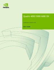 Quadro 4000/5000/6000 SDI User's Guide - Nvidia