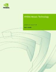 NVIDIA Mosaic Technology - PNY