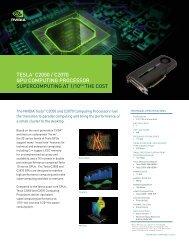 TESLA™ C2050 / C2070 GPU ComPUTinG ProCESSor ... - Nvidia