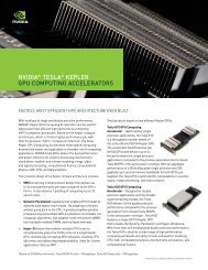 Datasheet: NVIDIA Tesla Kepler Computing Accelerators