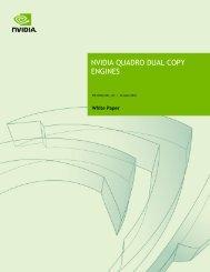 NVIDIA QUADRO DUAL COPY ENGINES