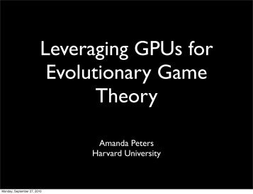 Amanda Peters Harvard University - Nvidia