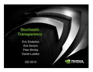 Stochastic Transparency - Nvidia