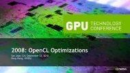 2008: OpenCL Optimizations - Nvidia