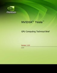GPU Computing Technical Brief - Nvidia