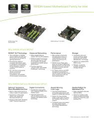 NVIDIA-based Motherboard Family for Intel