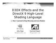 D3DX Effects and the DirectX 9 High-Level Shading ... - Nvidia